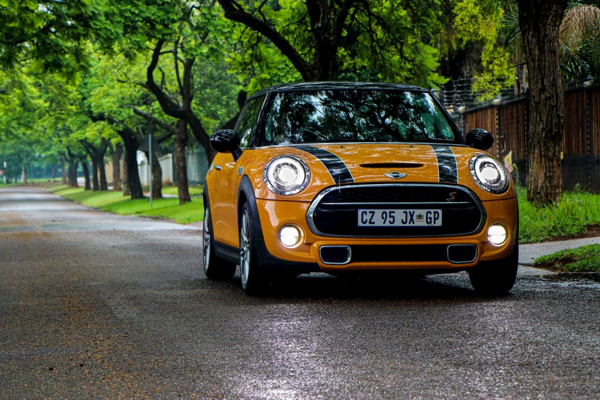 An image of a Mini Cooper that much like a micro niche is a very small specific version of a car