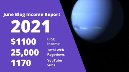 June 2021 – Monthly Income Report